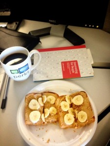 Running fuel: Peanut butter on toast