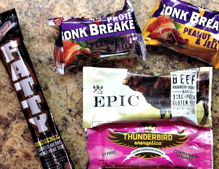 Protein bars and snacks