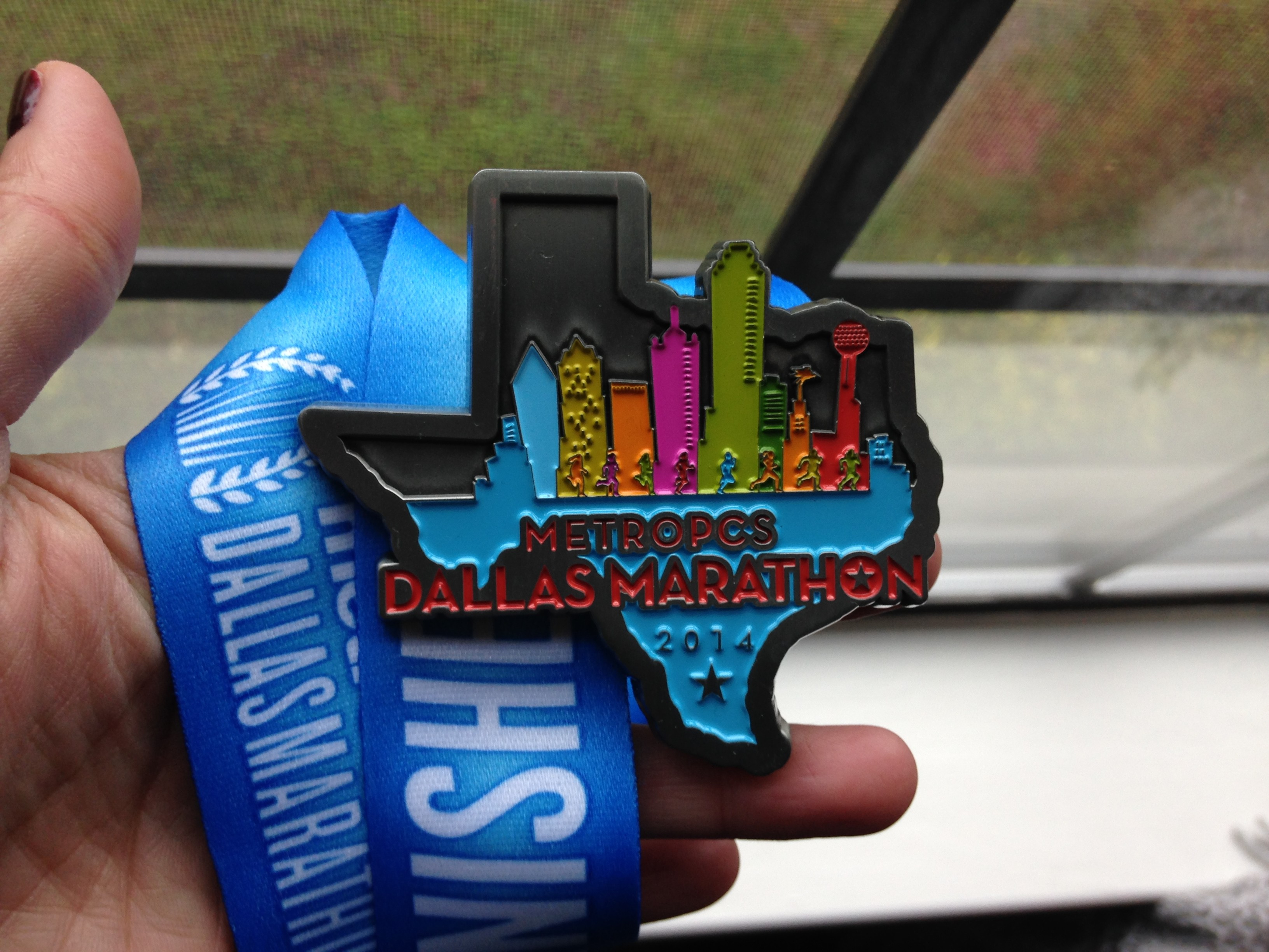Dallas Marathon 2014 finisher's medal