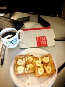 Running fuel: Peanut butter on toast